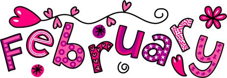february-clip-art-whimsical-cartoon-text-doodle-month-44872747
